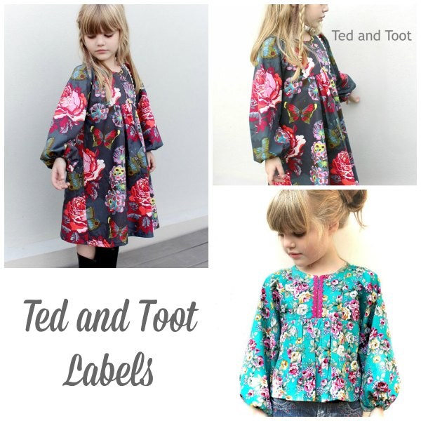 Ted and Toot Labels pdf pattern