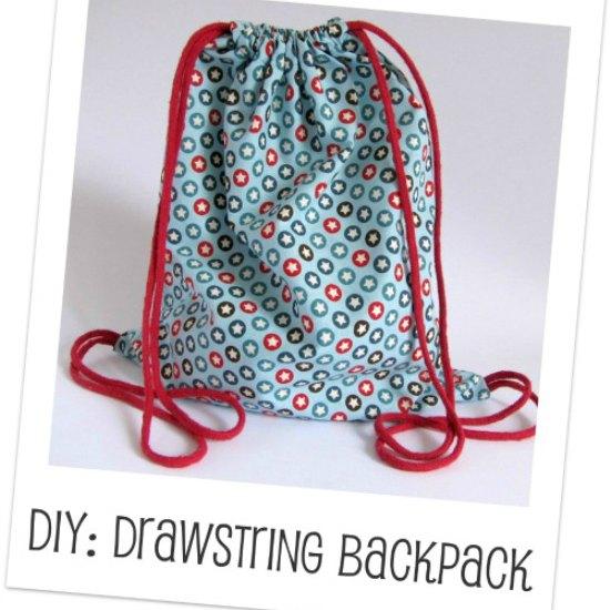 DIY make a drawstring backpack