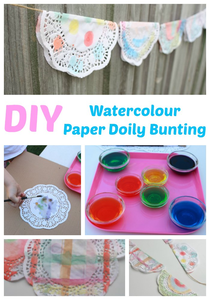 kids-craft-watercolour-paper-doily-bunting