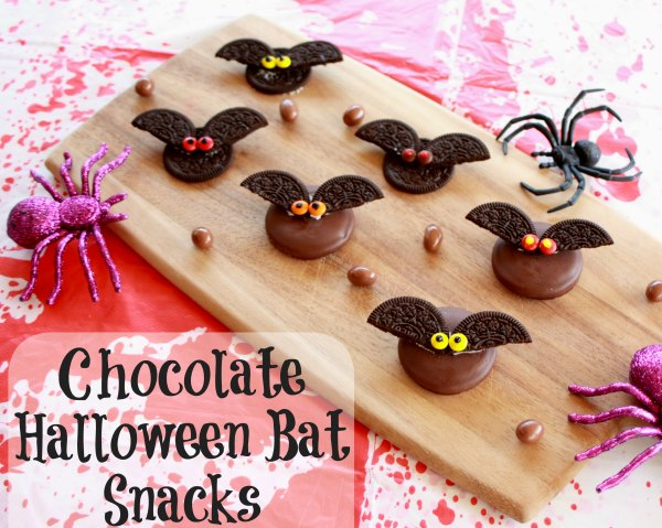 Chocolate Halloween Bat Snacks
