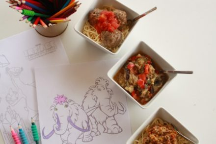 colouring-in-and-feast-time with Ice Age