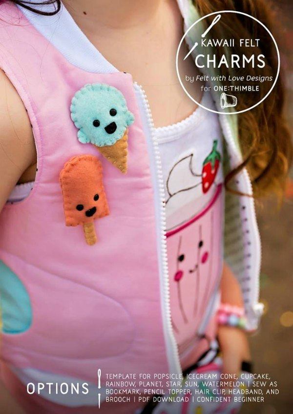 kawaii-felt-charms-pattern - Handmade KidsHandmade Kids