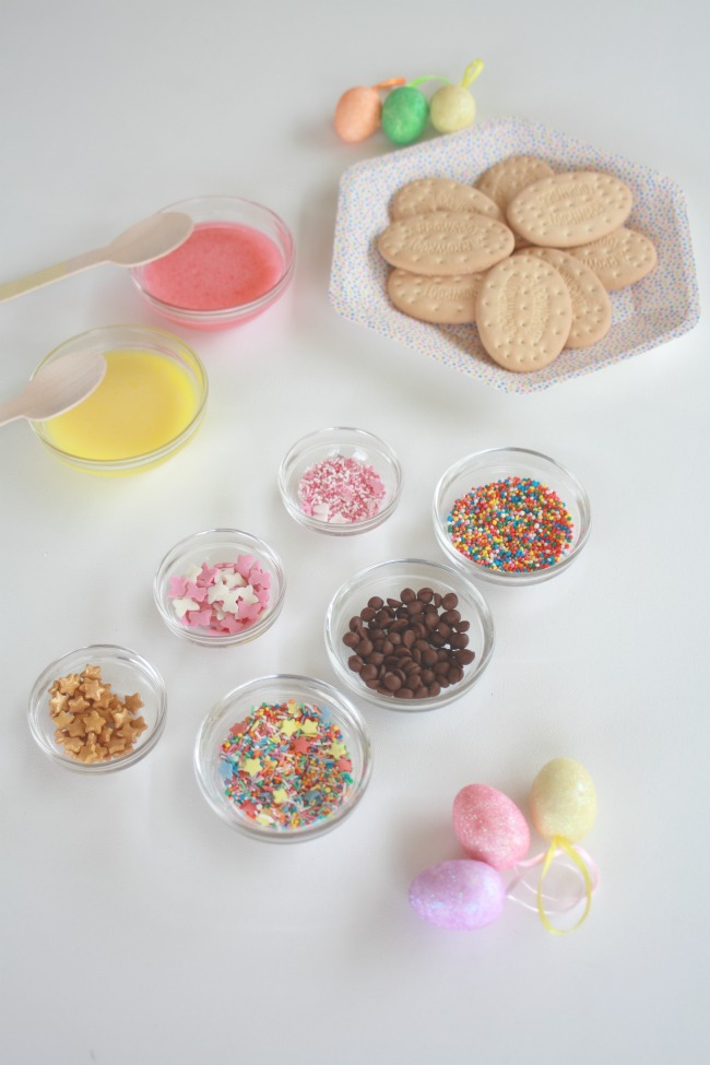 Supplies to make your easter cookies