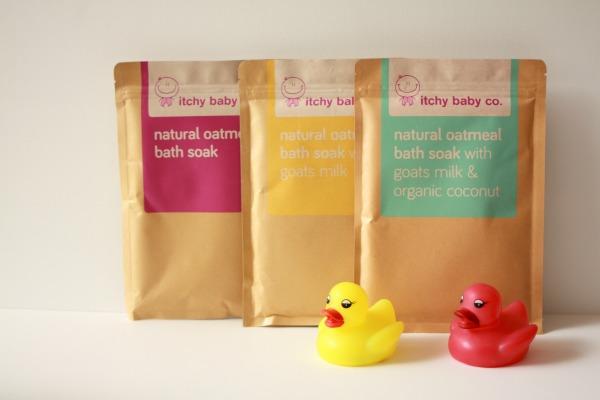 Natural oatmeal bath soaks