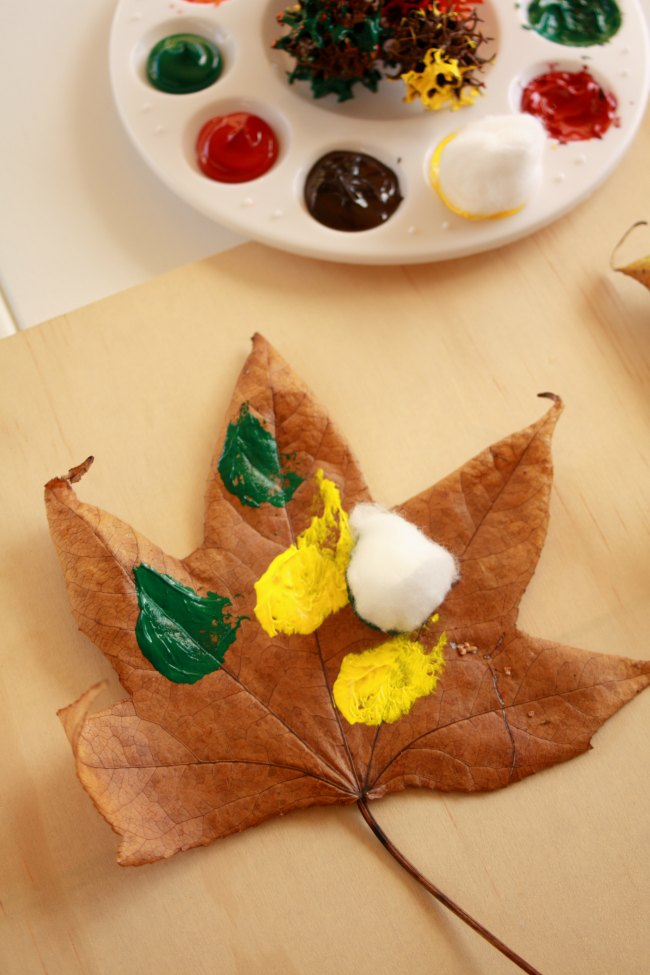 Painting your autumn leaves