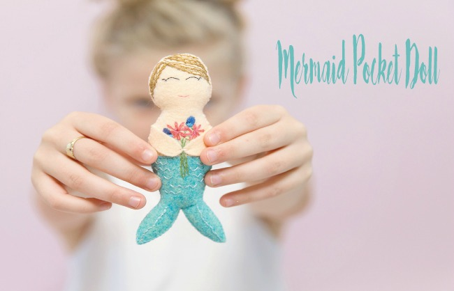 Mermaid Pocket Doll pdf pattern