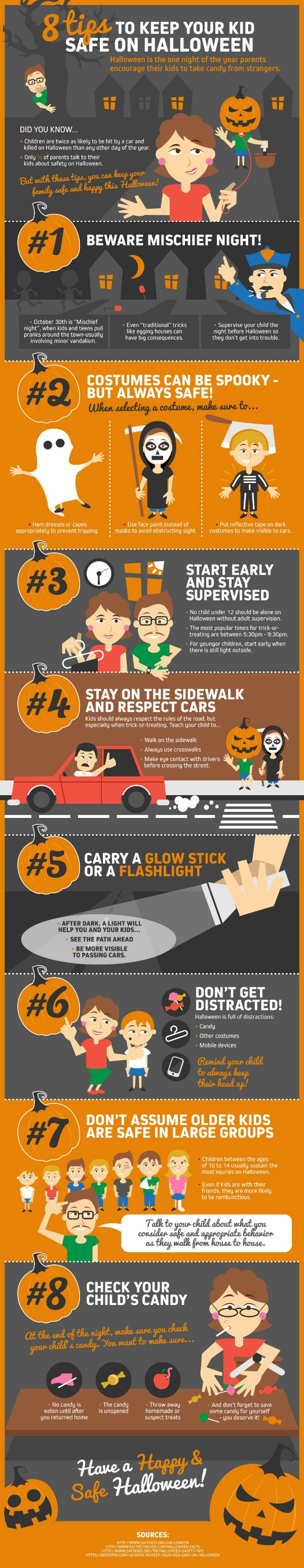 8 Tips for kids saftey Halloween