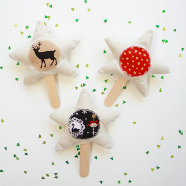 Christmas Stars on a Stick