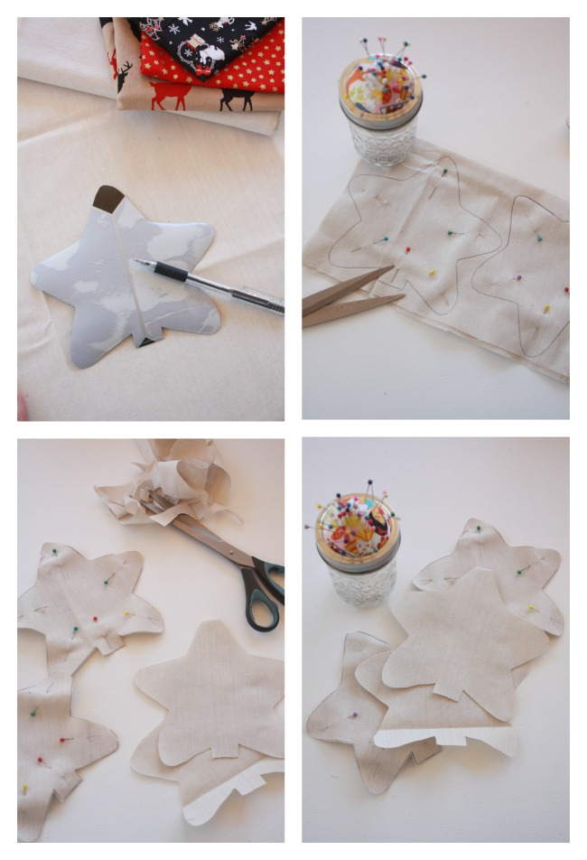 Draw and cut out your star shapes