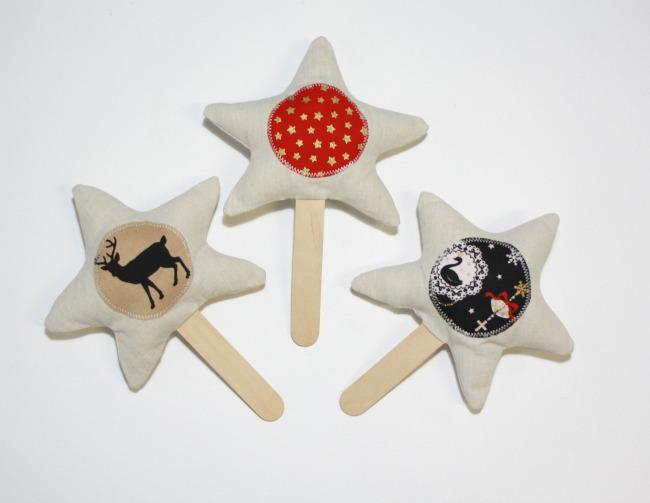 christmas stars on a stick