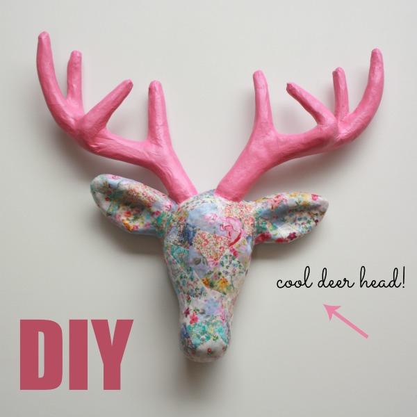 Decorate A Papier Mache Deer Head Handmade Kidshandmade Kids